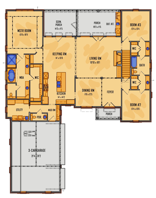 180-17 1st Floor Rendering