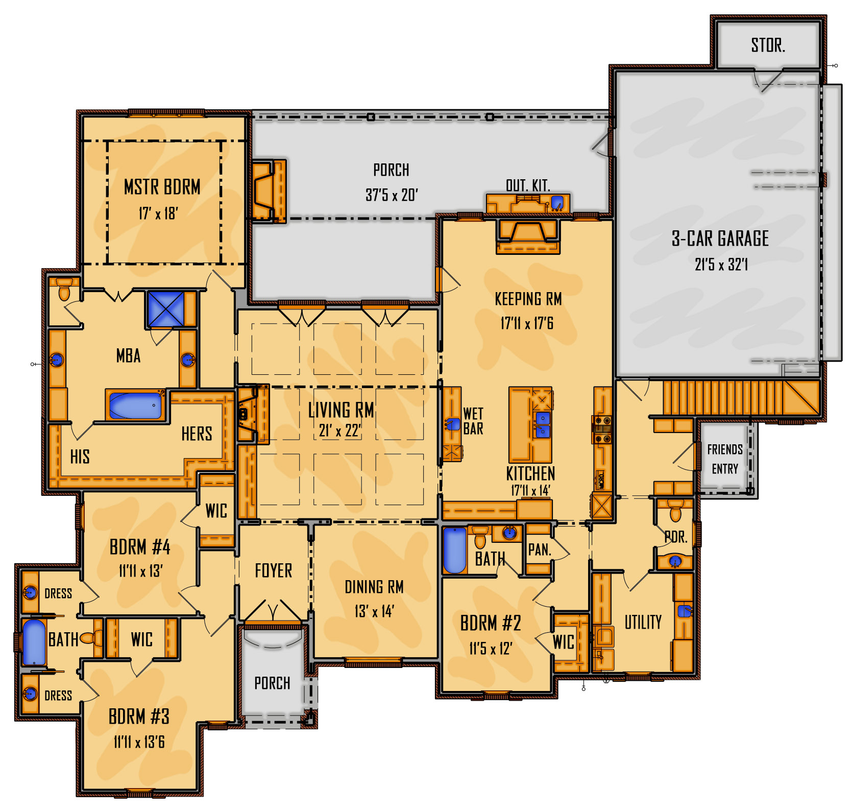 61-18 1st Floor Rendering
