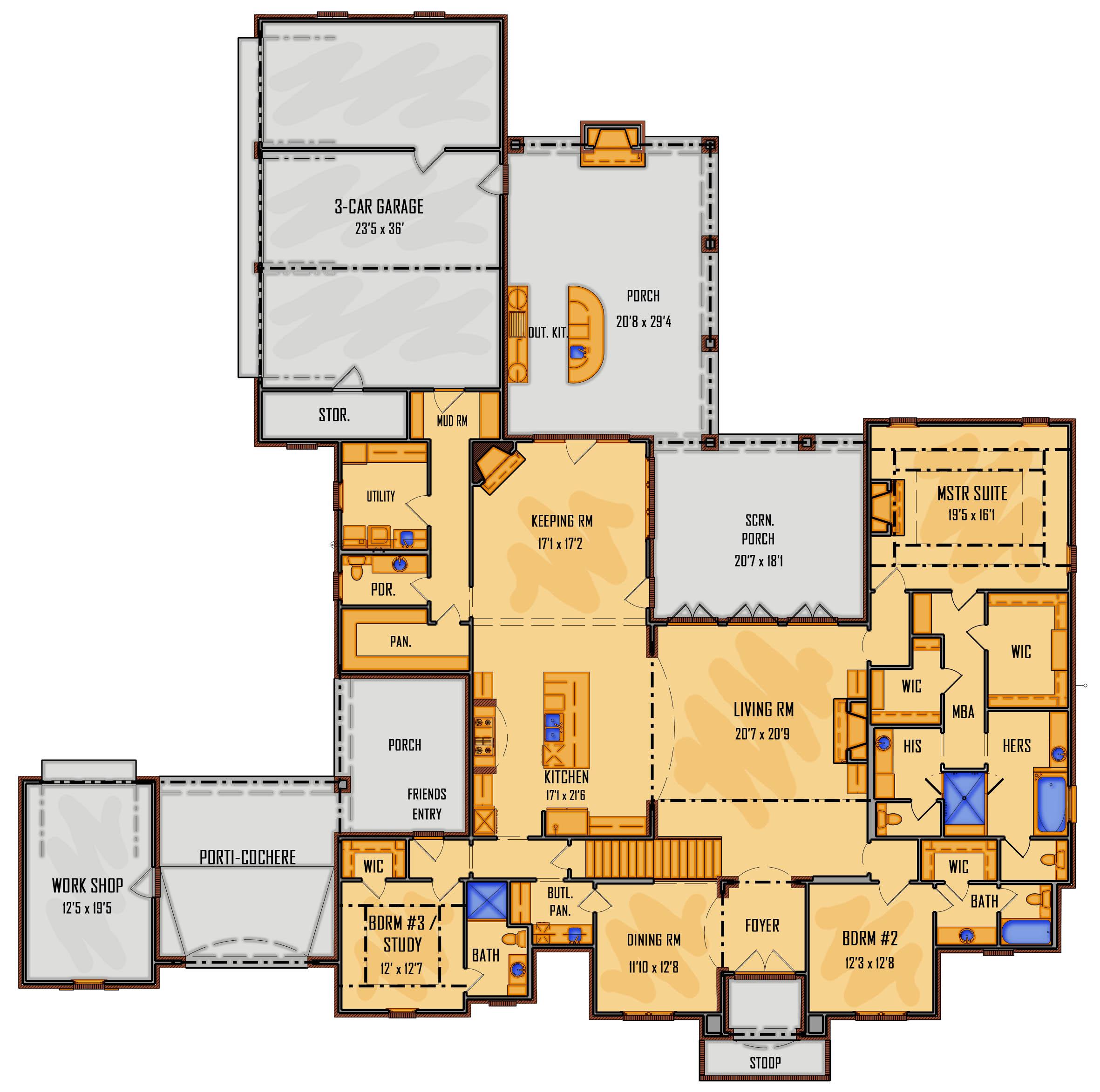 93-16 1st Floor Rendering